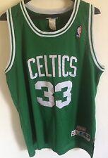 Larry Bird Jersey Boston Celtics NBA Hwc Throwback Men L Green Legend Pierce #33