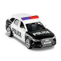1:36 Audi RS 6 Avant Wagon Police Car Model Diecast Toy Vehicle Pull Back Black