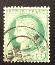 Nº 53 5 c Vert Oblitere TB Centrage ( Fond Ligne) cote 90€