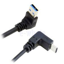 USB 3.1 USB-C Oben Unten Abgewinkelt nach 90D A Männlich Kabel Für Telefon GE