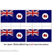 TASMANIA State Flag AU-TAS Australia TASSIE Australian 50mm Stickers, Decals x4