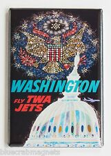 Washington D.C. FRIDGE MAGNET (2 x 3 inches) travel poster TWA capital building