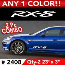 "2Pc COMBO MAZDA RX8 SIDE DECAL STICKER 23""w x 3""h Any 1 Color"