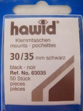 250 (5x50) Hawid 30/35Mm Stamp Mounts Black, High Value - Supplies