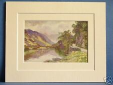 ULLSWATER LAKE DISTRICT CUMBRIA VINTAGE DOUBLE MOUNTED HASLEHUST PRINT 10X8