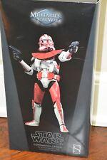 Sideshow Hot Toys Star Wars 1/6 612th Attack Battalion Commander Ganch, NIB