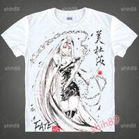 Anime Fate/Grand Order Medusa T-shirt Short Sleeve Unisex Tops Ink Print