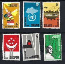 SINGAPORE 1969 SG 121 -126 FINE USED SET SEE SCANS Cat £90