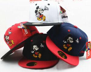 Disney Minnie Mickey Mouse Boys Girls Baseball Cap Kids Snapback Children Hat UK