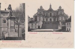 Carte Postale Silésie Albendorf Gnadenkirche + Monument De Osterberg