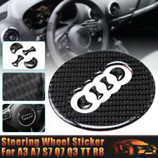 Carbon Fiber Steering Wheel Decoration Badge Sticker Fits For Audi A3 A7 S7 Q7