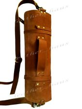 10 Tasche TAN in pelle leggera Coltello dello Chef Premium in Pelle Borsa/Coltello Roll