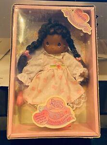 NIB - PRECIOUS MOMENTS Shayhala Doll African American Friendship Garden 11998
