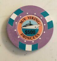 VIKING PRINCESS CRUISE LINE, $500 CASINO,   WET CHIP