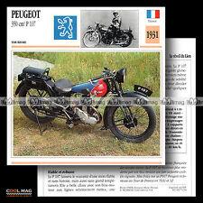 #074.04 PEUGEOT 350 P107 (P 107) 1931 Classic Bike Fiche Moto Motorcycle Card