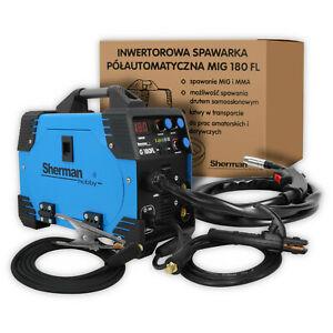 Sherman MIG MMA 180A Poste à souder Machine de soudage 2 en 1 avec/sans gaz