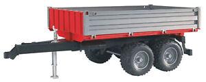 Remorque 2 essieux Ech:1/16,BRU2019, échelle1/16,BRUDER