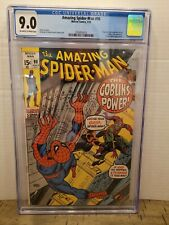AMAZING SPIDER-MAN 98 CGC 9.0 OW 1971 DRUG STORY NOT APROVED GREEN GOBLIN (AM1)