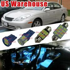 13-pc Aqua Ice Blue Interior LED Lights Package Kit For 04-06 Lexus ES330