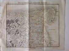 Kent, Isle Of Thanet,  c1829 Antique Map Rare Sandwich Ramsgate, England, Atlas