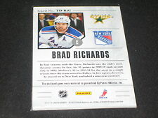 BRAD RICHARDS GENUINE CERTIFIED AUTHENTIC GAME USED HOCKEY DUAL JERSEY CARD /199