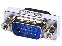 VGA SVGA HD15 HD 15 Male to Male Mini Gender Changer Coupler Adapter Converter