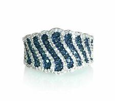 ETERNITY ENGAGEMENT & WEDDING SPARKLE UNIQUE RING 2.75CT SAPPHIRE 14K WHITE GOLD