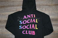 IN-HAND 100% Authentic Anti Social Social Club More Hate More Love Black Hoodie