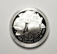 Canada 1996 McIntosh Apple Silver $1.00 One Dollar Coin Proof