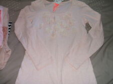 BNWT Next Pink Long Sleeved Top Beaded Flower Trims Age 8 GORGEOUS