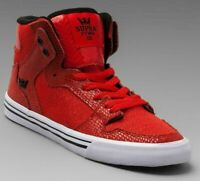Supra Vaider Red Snake Athletic Sneaker Womens Size 8 SW28011