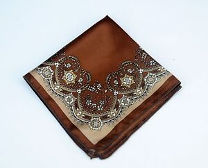 Lord R Colton Masterworks Pocket Square - Kosovo Brown Silk - $75 Retail New