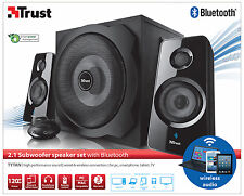 NEW TRUST 2.1 TYTAN 120W WIRELESS BLUETOOTH SPEAKER SET FOR PC LAPTOP SMARTPHONE