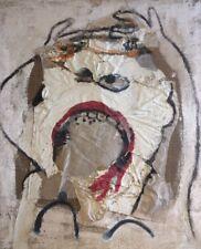 """Kayser.Huile sur toile de jute et collage.""""Cri"""" (inspiré du cri de Munch).v296"""
