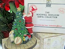 "Rockwell Heirloom Santa Collection ""Santa Decorates the Tree Centennial Edition"