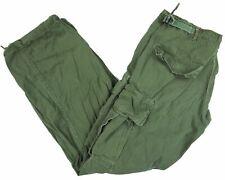 VINTAGE poplin JUNGLE military cargo 1969 VIETNAM field trousers OG-107 pants S