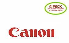 Canon Sticker Vinyl Decal 4 Pack