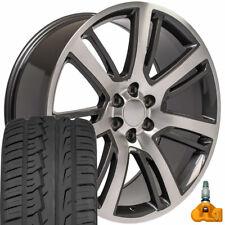 24x10 4738 Machined Gunmetal Wheels & Tires Fits Cadillac Escalade Ca88