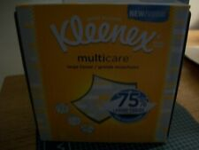 16-  75% LARGER KLEENEX Multicare Facial Tissues 16 /80 CT Boxes SEALED Man Size