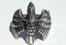 925 Sterling Silver Artisan Men's Ring with Absolutely Handmade Eagle