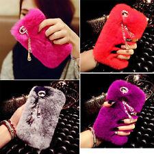 Luxury Colorful Lovely Fluffy Fur Tassel Gems Hard Case For Various Mobile Phone