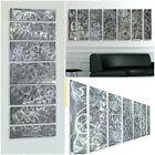 Abstract Metal Wall Art - Etched Silver Modern Art - Brillant Design  Jon Allen