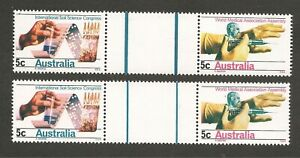 Australia 1968 Soil-Medical Gutter Pairs THICK & THIN Lines MUH