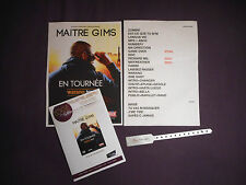 MAITRE GIMS SETLIST CONCERT PASS BRACELET WARANO TOUR 2015 RARE