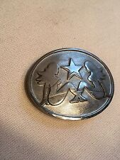 """Truck Mudflap Ladies"" Belt Buckle 4"" L X  3""  Heavy: 4 oz. Polished Steel. Nice"