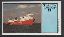 GB Locals - Staffa 2423 - 1982  FERRY SHIPS  imperf souvenir sheet unmounted