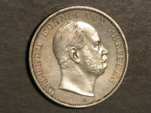 GERMANY-PRUSSIA 1867A 1 Thaler Silver AU-UNC