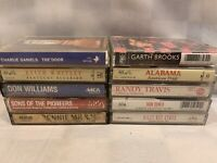 (10 Cassette Lot) Charlie Daniels Whitley Milsap Byrus Travis Brooks Alabama