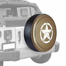 Oscar Mike Star - Painted  Tire Cover fits Jeep Wrangler - Mojave Sand