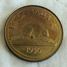 EDWARD VIII 1936 CANADA MILLED EDGE BRONZE PROOF PATTERN CROWN